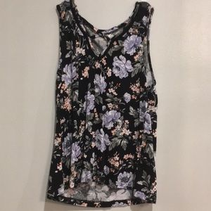 Floral American Eagle Top